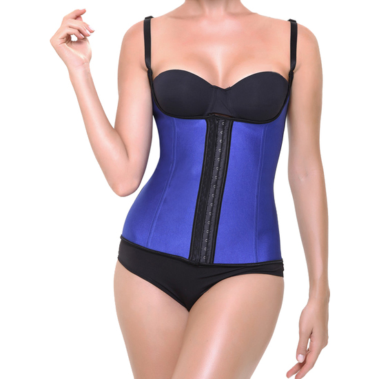 Comprar CORSET LATEX SHAPE AZUL INTIMAX