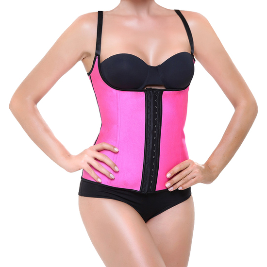 Comprar CORSET LATEX SHAPE FUCSIA INTIMAX