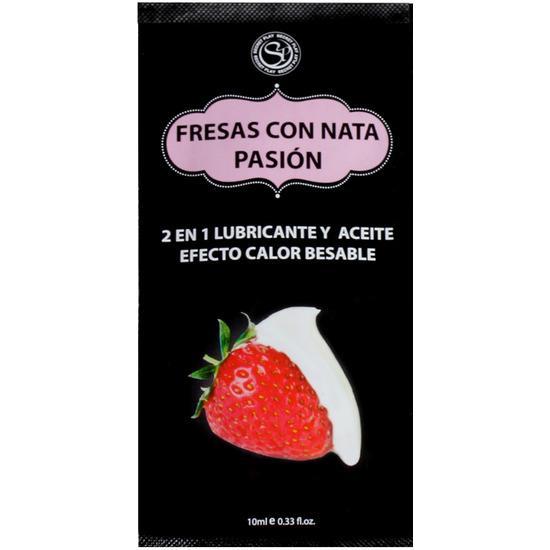 Comprar MONODOSIS LUBRICANTE FRESAS CON NATA -10ML SECRET PLAY